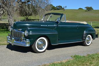 1947 mercury super deluxe convertible sold